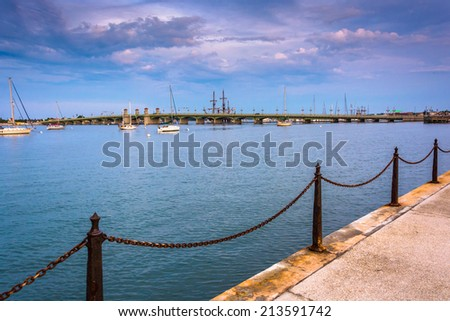 The Matanzas River in St. Augustine, Florida. - stock photo