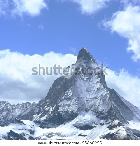 The Matterhorn Peak, Switzerland - stock photo