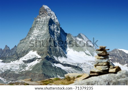 the Matterhorn, the most famous mountain in Switzerland