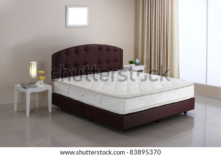 The mattress and bed set in the bedroom atmosphere  - stock photo