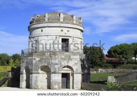 the Mausoleum of Theodoric in Ravenna, Italy unesco - stock photo