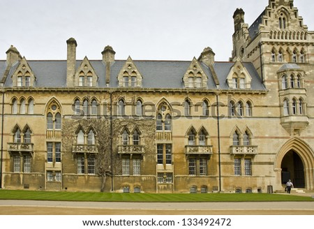 The Meadow Building (built in 1863), Christ Church, Oxford - stock photo
