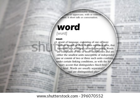The meaning of 'Word'. - stock photo
