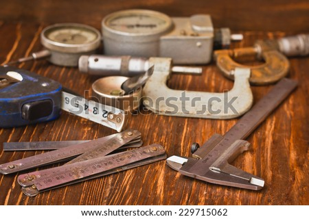The measung tool is a measurement accuracy - stock photo