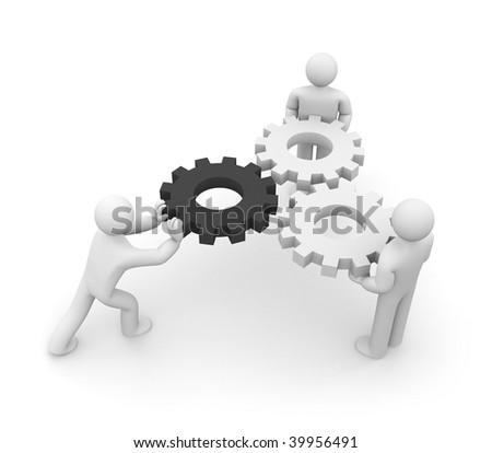 The mechanism - stock photo