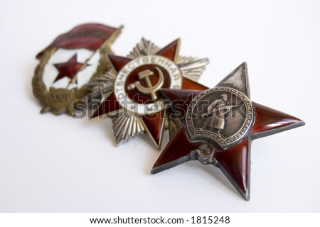 The medal of soviet heroes - stock photo