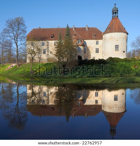 The medieval castle in Jaunpils,Latvia