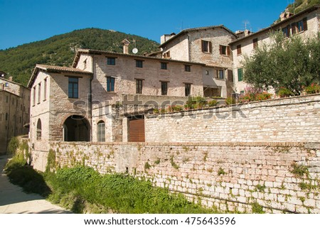 The medieval center of Gubbio