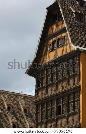 The Medieval City of Strasbourg, France, in summer