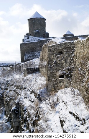 The medieval fortress of Kamyanets-Podilsky, Ukraine - stock photo