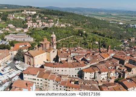 The medieval town of Sinalunga in Tuscany - Italy