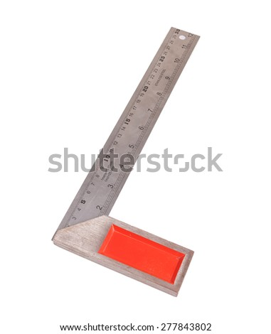 The metal measuring tool Isolated on a white background. - stock photo