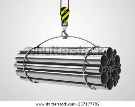the metal tubes - stock photo
