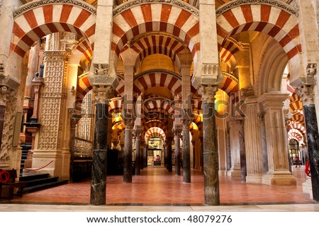 The Mezquita (Spanish for mosque) of Cordoba is a Roman Catholic cathedral and former mosque situated in the Andalusian city of Codoba, Spain