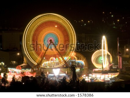 The midway at the Capitol Lake Fair, Olympia Washington, Capital City, Washington State, USA - stock photo
