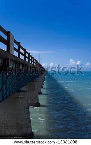 The 7 mile bridge connecting Key West, Florida to the rest of the US. - stock photo