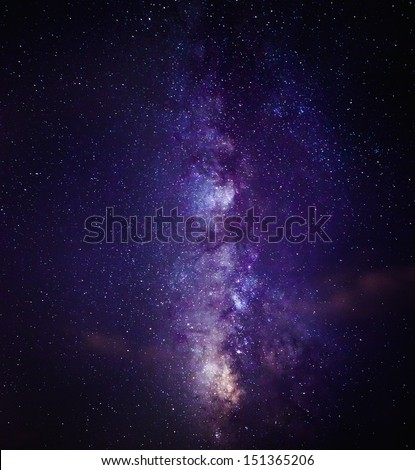 The Milky Way in August - stock photo