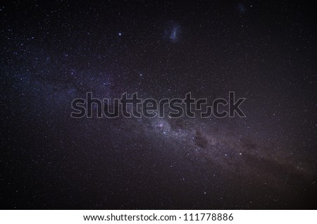 The Milky Way in the night sky. Outer space background. - stock photo