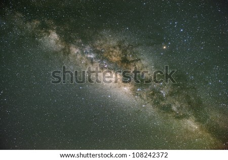 The Milky Way. Our galaxy. Long exposure photograph from an astronomical observatory site.