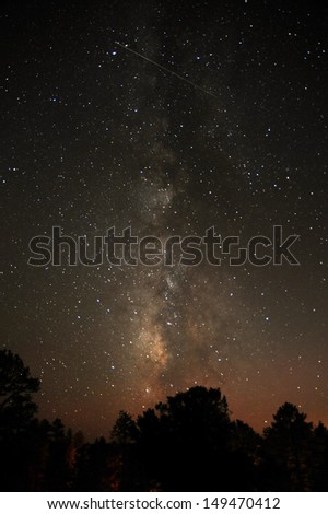The Milky way over Bryce National Park
