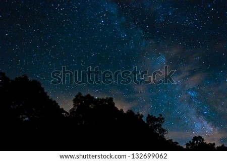 The Milky Way, seen from Shenandoah National Park, Virginia - stock photo