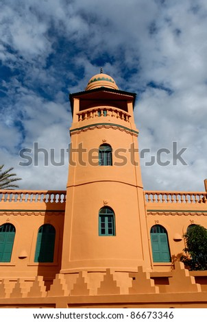The minaret of the mosque of Antsirabe, Madagascar - stock photo