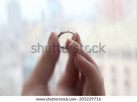 The miracle ring. - stock photo