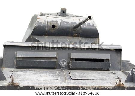The model of tank WW2 on white background  - stock photo