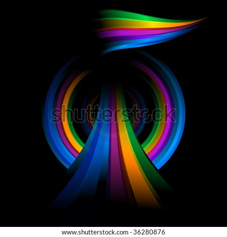 The modern Abstract composition on black background
