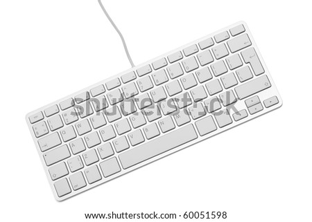 The modern and stylish keyboard for a computer - stock photo