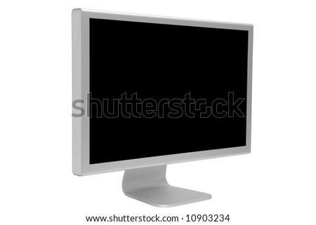 The modern and thin display on a white background - stock photo