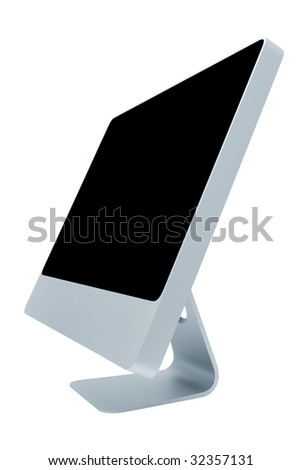 The modern and thin monitor on a white background - stock photo