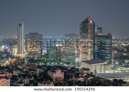 The Modern building Downtown business district of Bangkok
