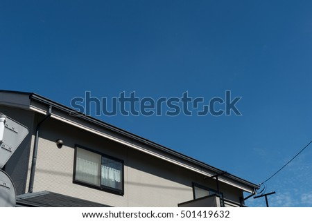 The Modern building on blue sky background
