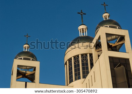 the modern Catholic cathedral in Europe - stock photo