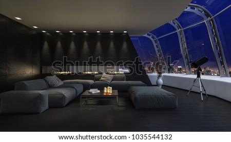 marvellous futuristic living room design | Penthouse Stock Images, Royalty-Free Images & Vectors ...