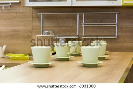 the modern kitchen interior close-up detail  photo - stock photo