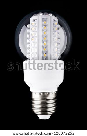 The modern LED light bulb - stock photo