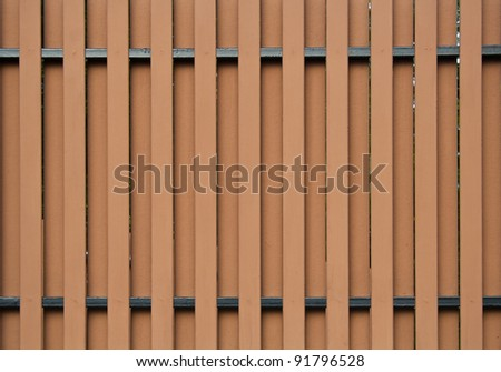 The modern wooden fence - stock photo