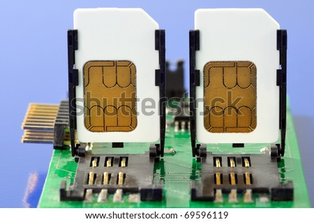 The module of the device for reading SIM cards - stock photo