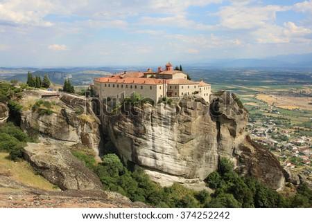 The monastery. Meteora. Greece. - stock photo