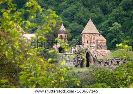 The monastery of Dadivank, Nagorno-Karabakh Republic - stock photo