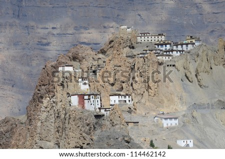 The monastery which is over thousands of years at India. - stock photo