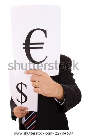 the money expert businessman (selective focus) - stock photo