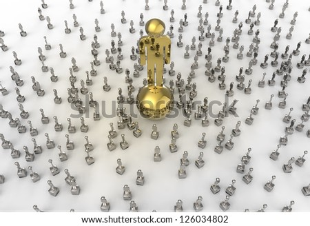 The monument of success as concept - stock photo