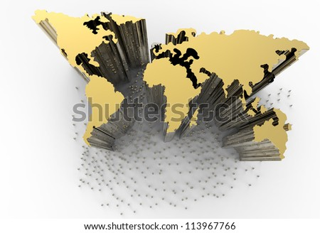 The monument of success leader as concept - stock photo