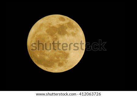 The Moon is lighting - stock photo