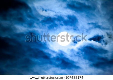 the moonlight - stock photo