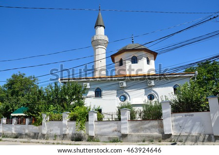 The mosque of Kebir-Jami in Simferopol. Religious building, 1508 year built