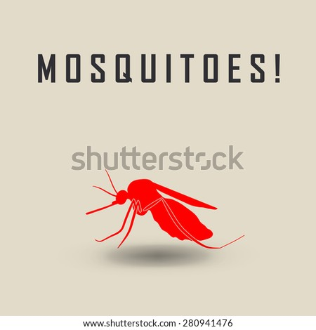 the mosquitoes stop sign - raster image of a mosquito